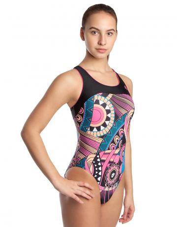 Спортивный купальник для плавания RATEСпортивные купальники<br>Купальник слитный с формой спины Team Back. Декорирован кантом. Эргономичный крой спины. Вырез бедра высокий. Подходит для спортивных тренировок, так и для отдыха.<br><br>Размер: XL<br>Цвет: Розовый