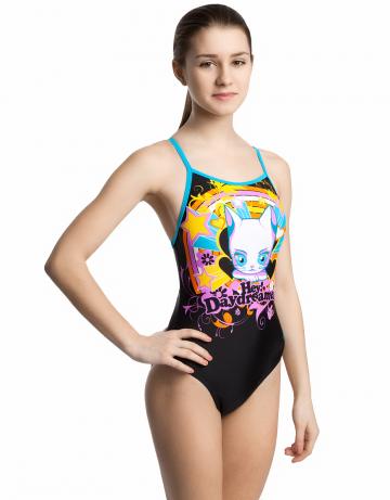 Детский купальник DaydreamerДетские купальники<br>Купальник слитный с формой спины Freedom Back и тонкими брителями. Вырез бедра средний. Подходит как для спортивных тренировок, так и для отдыха.<br><br>Размер: XXS<br>Цвет: Черный