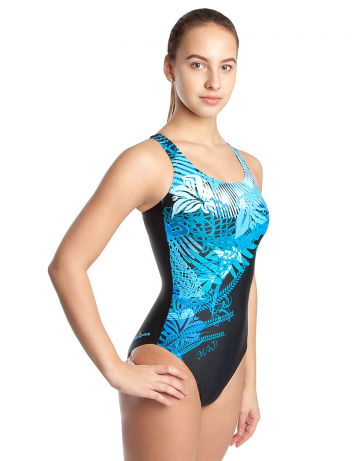 Спортивный купальник для плавания WaveСпортивные купальники<br>Купальник спортивный слитный. В подкладке лифа формованные чашки для комфортного плавания. Эластичная лента под грудью создает дополнительную поддержку. Вырез бедра средний.<br><br>Размер: XXS<br>Цвет: Голубой