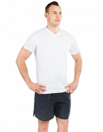 Спортивная футболка PROMO MENФутболки<br>Мужская футболка с коротким рукавом. V-образный вырез горловины. Приталенный силуэт. Представлена в нескольких цветах.<br><br>Размер INT: S<br>Цвет: Белый