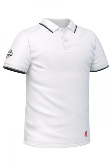 Спортивная футболка SOLIDS Men PoloФутболки<br>Мужская футболка-поло с коротким рукавом. Приталенный силуэт.<br><br>Размер INT: M<br>Цвет: Белый