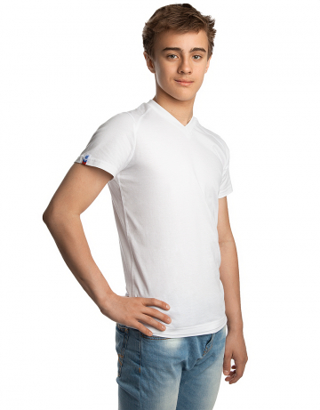 Спортивная футболка PROMO JUNIORФутболки<br>Юниорская футболка с коротким рукавом. V - образный вырез горловины.<br><br>Размер INT: M<br>Цвет: Белый