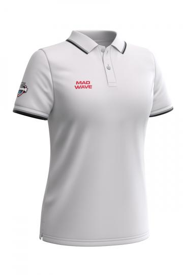 Спортивная футболка SOLIDS Women PoloФутболки<br>Женская футболка-поло с коротким рукавом. Приталенный силуэт.<br><br>Размер INT: XL<br>Цвет: Белый
