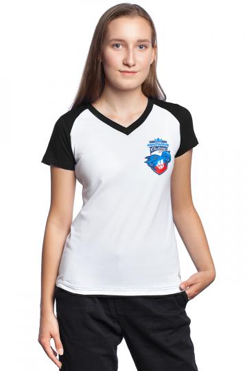 Спортивная футболка MW Challenge WomenФутболки<br>Женская футболка с коротким рукавом. V - образный вырез горловины. Приталенный силуэт.<br><br>Размер INT: XL<br>Цвет: Черный