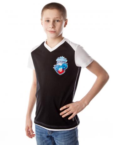 Спортивная футболка MW Challenge juniorФутболки<br>Юниорская футболка с коротким рукавом. V - образный вырез горловины.<br><br>Размер INT: XL<br>Цвет: Черный