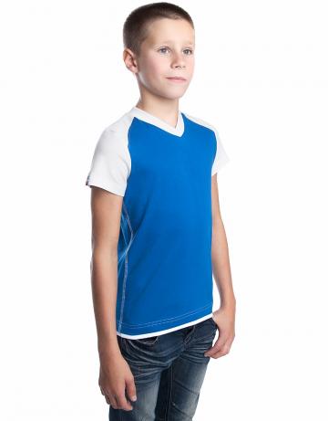 Спортивная футболка PROMO JUNIORФутболки<br>Юниорская футболка с коротким рукавом. V - образный вырез горловины.<br><br>Размер INT: XL<br>Цвет: Синий
