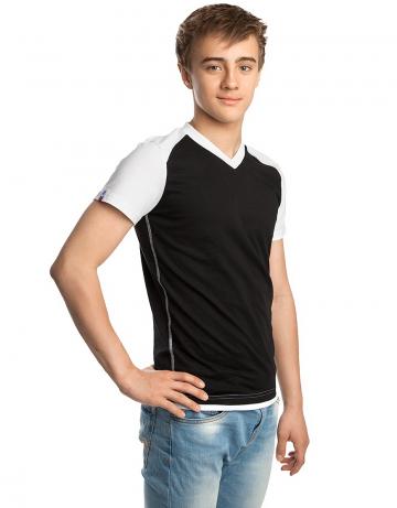 Спортивная футболка PROMO JUNIORФутболки<br>Юниорская футболка с коротким рукавом. V - образный вырез горловины.<br><br>Размер INT: XXL<br>Цвет: Черный