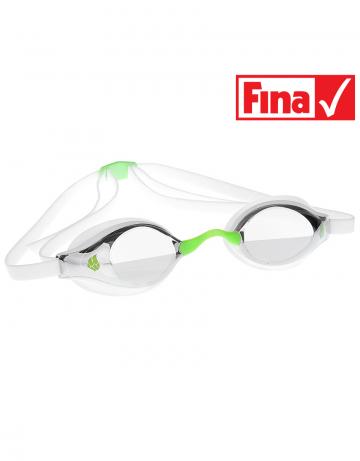 Стартовые очки Record breaker MirrorСтартовые очки<br>Разработанная нашими специалистами инновационная конструкция линз дает пловцам превосходный фронтальный обзор и позволяет сохранять оптимальное положение головы в воде во время тренировок и соревнований. Очки оснащены двойным ремешком для обеспечения надежной фиксации и безопастности при погружении в воду. Линзы имеют защиту от ультрафиолета UV 400 и специальное покрытие AntiFog. В комплекте 3 сменные носовые перемычки. Низкопрофильный обтюратор.<br><br>Очки RECORD BREAKER сертифицированы федерацией FINA для участия в международных соревнованиях.<br><br>ОСОБЕННОСТИ<br><br><br>Особая конструкция линз - обеспечивает превосходный фронтальный обзор, позволяет сохранять оптимальное положение головы и тела в воде;<br>Сменная носовая перемычка - подходят для любого типа лица;<br>Защита UV 400 - усовершенствованная защита от ультрафиолета;<br>Покрытие антифог - защита от запотевания;<br>Низкопрофильный обтюратор - обеспечивает надежную посадку и повышает гидродинамические свойства;<br>Двойной ремешок - улучшенная фиксация, безопасность и надежность крепления;<br>FINA approved - очки сертифицированы федерацией FINA для участия в международных соревнованиях.<br><br>Цвет: Зеленый