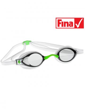 Стартовые очки Record breakerСтартовые очки<br>Разработанная нашими специалистами инновационная конструкция линз дает пловцам превосходный фронтальный обзор и позволяет сохранять оптимальное положение головы в воде во время тренировок и соревнований. Очки оснащены двойным ремешком для обеспечения надежной фиксации и безопастности при погружении в воду. Линзы имеют защиту от ультрафиолета UV 400 и специальное покрытие AntiFog. В комплекте 3 сменные носовые перемычки. Низкопрофильный обтюратор.<br><br>Очки RECORD BREAKER сертифицированы федерацией FINA для участия в международных соревнованиях.<br><br>ОСОБЕННОСТИ<br><br><br>Особая конструкция линз - обеспечивает превосходный фронтальный обзор, позволяет сохранять оптимальное положение головы и тела в воде;<br>Сменная носовая перемычка - подходят для любого типа лица;<br>Защита UV 400 - усовершенствованная защита от ультрафиолета;<br>Покрытие антифог - защита от запотевания;<br>Низкопрофильный обтюратор - обеспечивает надежную посадку и повышает гидродинамические свойства;<br>Двойной ремешок - улучшенная фиксация, безопасность и надежность крепления;<br>FINA approved - очки сертифицированы федерацией FINA для участия в международных соревнованиях.<br><br>Цвет: Белый