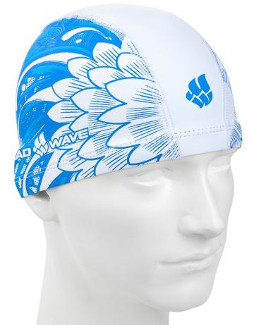 Комбинированная шапочка для плавания LAGOON put coatedКомбинированные шапочки<br>Текстильная шапочка с полуиретановым покрытием и рисунком. Легкая и комфортная.<br><br>Размер: None<br>Цвет: Белый