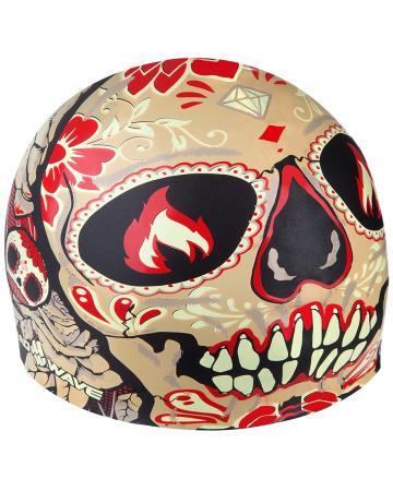 Силиконовая шапочка для плавания TOMB FACEСиликоновые шапочки<br>Силиконовая шапочка с рисунком.<br><br>Размер: None<br>Цвет: Черный