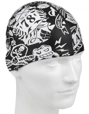 Силиконовая шапочка для плавания 78 silicone printed juniorСиликоновые шапочки<br>Детская шапочка. Подходит для подростков до 10-11 лет.<br><br>Размер: None<br>Цвет: Черный