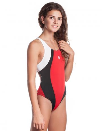 Юниорские купальники Mad Wave Solution junior M1405 02 5 05WЮниорские купальники<br>Купальник слитный с формой спины Swift Back на подкладке спереди. Вырез бедра высокий. Серия ткани Training. Идеально подходит для частых тренировок.<br><br>Размер: M<br>Цвет: Красный