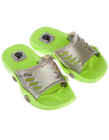 Детские тапочки для бассейна и пляжа STANDART IIДетская обувь<br>Юниорские тапки для бассейна.<br><br>Размер RU: 28-29<br>Цвет: Зеленый