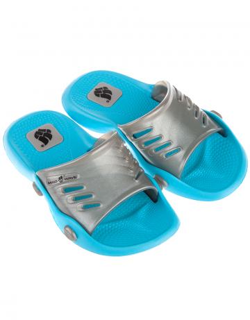 Детские тапочки для бассейна и пляжа STANDART IIДетская обувь<br>Юниорские тапки для бассейна.<br><br>Размер RU: 32-33<br>Цвет: Серебро