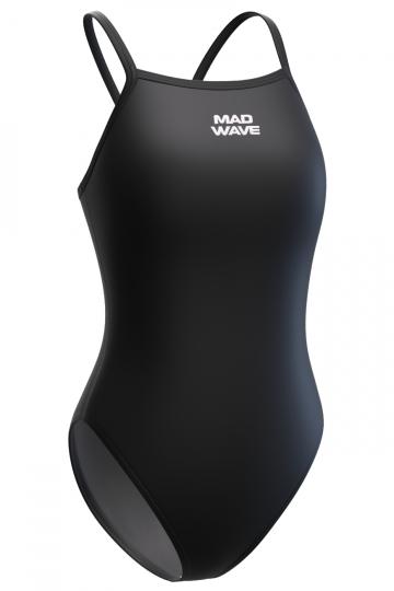 Спортивные купальники Mad Wave Nera M0155 06 3 01WСпортивные купальники<br>Купальник слитный с тонкими бретелями. Модели из светлой ткани спереди на подкладке. Вырез бедра средний. Серия ткани Base Xtra Life. Подходит для спортивных тренировок и отдыха.<br><br>Размер: XS<br>Цвет: Черный