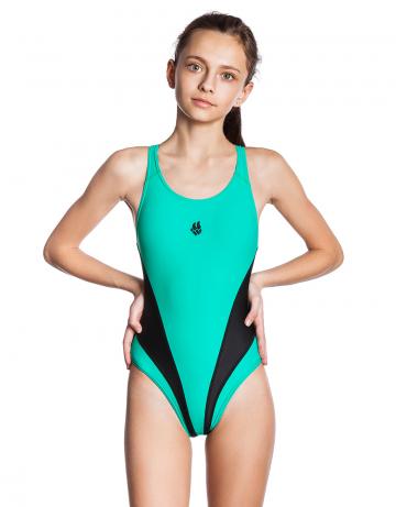 Детский купальник Ambition lining juniorЮниорские купальники<br>Купальник слитный с формой спины Active Back. Модели из светлой ткани спереди на подкладке. Вырез бедра высокий. Серия ткани Base Xtra Life. Пожходит для регулярных занятий в бассейне и отдыхе.<br><br>Размер: XL<br>Цвет: Бирюзовый