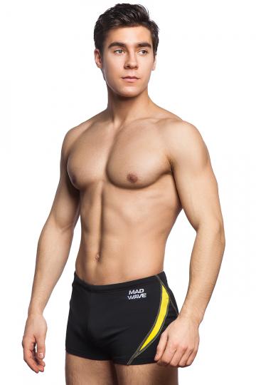 Мужские плавки-шорты OLYMPПлавки-шорты<br>Плавки-шорты со средним уровнем талии. Внутри пояса шнурок. Высота бокового шва 25 см. Серия ткани Base Xtra Life. Подходит для спортивных тренировок и отдыха.<br><br>Размер INT: M<br>Цвет: Желтый