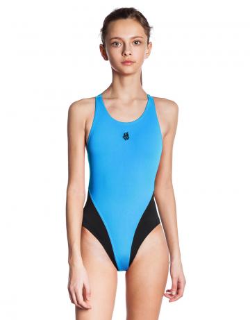 Детский купальник REACTION JuniorЮниорские купальники<br>Купальник слитный с эргономичной спиной Active Back. Модели из светлой ткани спереди на подкладке. Вырез бедра высокий. Серия ткани Training. Идеально подходит для частых тренировок.<br><br>Размер INT: M<br>Цвет: Голубой
