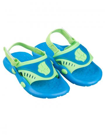 Детские тапочки для бассейна и пляжа FlopДетская обувь<br>Детские тапки со съемным задним ремнем. <br>Верх -ПВХ/Подошва - ПВХ.<br><br>Размер: 30<br>Цвет: Синий