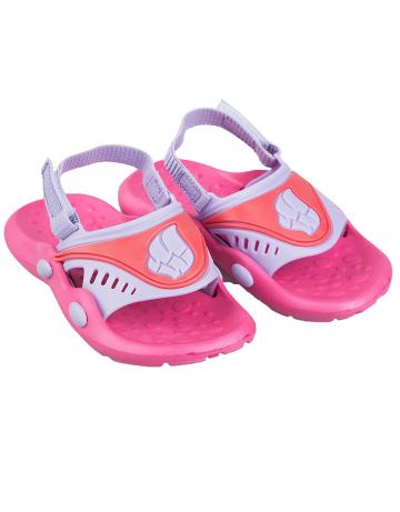 Детские тапочки для бассейна и пляжа FlopДетская обувь<br>Детские тапки со съемным задним ремнем. <br>Верх -ПВХ/Подошва - ПВХ.<br><br>Размер: 30<br>Цвет: Розовый