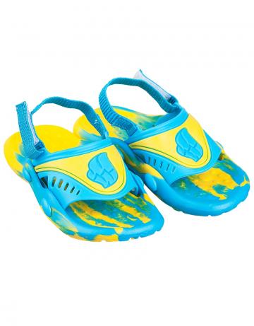 Детские тапочки для бассейна и пляжа FlopДетская обувь<br>Детские тапки со съемным задним ремнем. <br>Верх -ПВХ/Подошва - ПВХ.<br><br>Размер: 29<br>Цвет: Желтый