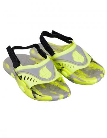 Детские тапочки для бассейна и пляжа FlopДетская обувь<br>Детские тапки со съемным задним ремнем. <br>Верх -ПВХ/Подошва - ПВХ.<br><br>Размер: 26<br>Цвет: Серый