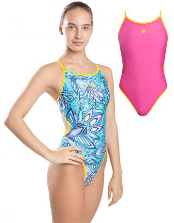 Спортивный купальник для плавания DuoСпортивные купальники<br>Купальник слитный двухсторонний с формой спины Light Back. Вырез бедра высокий. По всем срезам проходит окантовка. Модель подходит как для тренировок, так и для отдыха.<br><br>Размер: XL<br>Цвет: Голубой