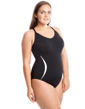 Моделирующий купальник VICTORIAМоделирующие купальники<br>Слитный купальник с формой спины Sure Back. Вырез бедра средний. Моделирует фигуру. Серия ткани Training. Комфортный купальник для плавания.<br><br>Размер: XL<br>Цвет: Черный