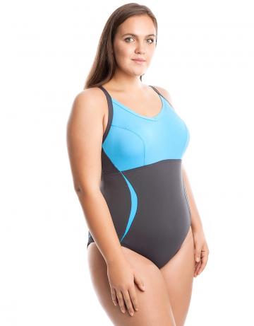 Моделирующий купальник VICTORIAМоделирующие купальники<br>Слитный купальник с формой спины Sure Back. Вырез бедра средний. Моделирует фигуру. Серия ткани Training. Комфортный купальник для плавания.<br><br>Размер: 5XL<br>Цвет: Синий