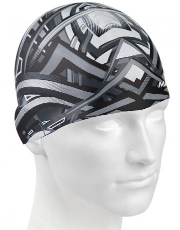 Силиконовая шапочка для плавания Stripes IIСиликоновые шапочки<br>Силиконовая шапочка с рисунком.<br><br>Цвет: Черный