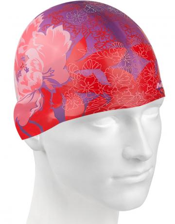 Силиконовая шапочка PINK FLOWER