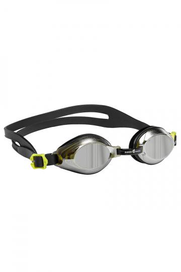 Тренировочные очки для плавания AQUA MirrorТренировочные очки<br>Удобные юниорские очки для повседневных тренировок с зеркальнам покрытием. Защита от ультрафиолетовых лучей. Антизапотевающие стекла. Линзы из поликарбоната. Регулируемая мультиступенчатая переносица. Силиконовый обтюратор и ремешек.<br><br>Цвет: Черный