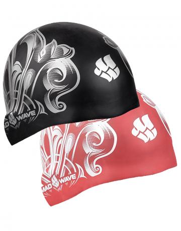 Силиконовая шапочка для плавания GLAMOUR reversibleСиликоновые шапочки<br>3D двусторонняя силиконовая шапочка.<br><br>Размер: None<br>Цвет: Черный