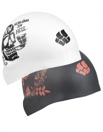 Силиконовая шапочка для плавания MOOD reversibleСиликоновые шапочки<br>Силиконовая шапочка Mad Wave MOOD reversible - двусторонняя шапочка со стильным принтом. Основная особенность: совмещает в себе две шапочки разных цветов. Для того чтобы изменить цвет, нужно просто вывернуть шапочку наизнанку.  Мягкий прочный силикон обеспечивает идеальную посадку и комфорт. Материал шапочки не вызывает раздражения, что гарантирует безопасность использования шапочки. Силикон не пропускает воду и приятен на ощупь.<br><br>Цвет: Черный