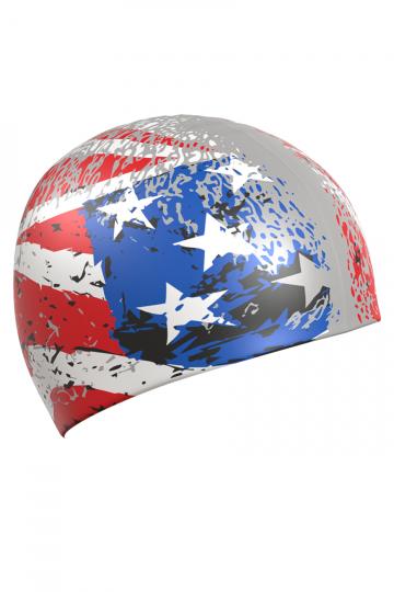 Силиконовая шапочка для плавания USA. Производитель: Mad Wave, артикул: 10019093