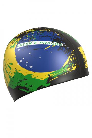 Силиконовая шапочка для плавания BRAZILСиликоновые шапочки<br>Силиконовая шапочка с рисунком.<br><br>Размер: None<br>Цвет: Разноцветный