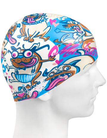 Силиконовая шапочка для плавания FUNKY DOGSСиликоновые шапочки<br>Детская силиконовая шапочка Mad Wave FUNKY DOGS - детская модель шапочки. Такая шапочка без сомнений понравится ребенку и сделает его заметным на воде издалека. Шапочка изготовлена из качественного силикона и подходит для всех видов занятий плаванием. Силикон - гипоаллергенный материал, не вызывает зуда и раздражения, а это особенно важно для чувствительной детской кожи. Шапочка сохраняет высокую эластичность и яркость на протяжении всего срока службы.<br><br>Цвет: Разноцветный