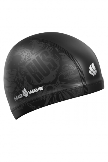 Комбинированная шапочка для плавания BLACK RUSКомбинированные шапочки<br>Текстильная шапочка с полиуретановым покрытием и рисунком. Лёгкая и комфортная.<br><br>Цвет: Черный