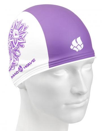 Резиновые шапочки Mad Wave TRAINING FLOWER M0553 12 0 09WРезиновые шапочки<br>Резиновая тренировочная шапочка с рисунком. Удобная и надежная посадка.<br><br>Размер: None<br>Цвет: Фиолетовый