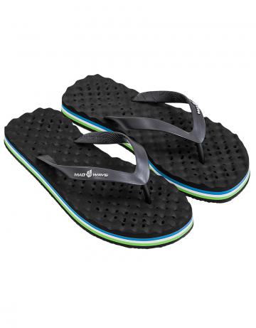 Женская обувь Mad Wave Admiral M0316 02 4 01WЖенская обувь<br>Тапки с перфорированной подошвой для стока воды. Сделаны из прочной резины.<br><br>Размер: 38<br>Цвет: Черный