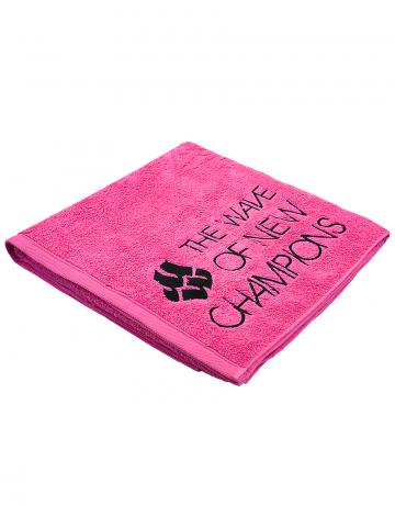 Полотенце для бассейна и пляжа WAVEПолотенца<br>Махровое полотенце 450 г/м2.<br><br>Размер: 50*100<br>Цвет: Розовый