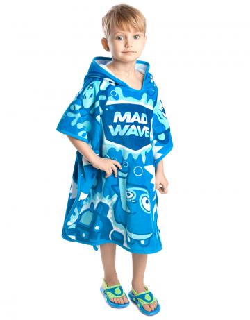 Полотенце для бассейна и пляжа MAD BUBBLESПолотенца<br>Детское пончо 300 г/м2.<br><br>Размер: 70*130<br>Цвет: Голубой