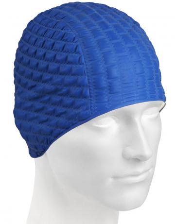 Резиновая шапочка CANDY BUBBLEРезиновые шапочки<br>Откройте для себя ассортимент резиновых шапочек Mad Wave!  Изготовлена из высококачественной резины , эта шапочка является идеальным выбором для регулярных тренировок в бассейне . Эргономичная форма обеспечит точную и надежную фиксацию .<br><br>Размер: None<br>Цвет: Темно-синий