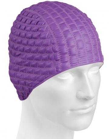 Резиновая шапочка CANDY BUBBLEРезиновые шапочки<br>Откройте для себя ассортимент резиновых шапочек Mad Wave!  Изготовлена из высококачественной резины , эта шапочка является идеальным выбором для регулярных тренировок в бассейне . Эргономичная форма обеспечит точную и надежную фиксацию .<br><br>Цвет: Фиолетовый