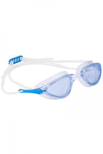 Тренировочные очки для плавания FITТренировочные очки<br>Женские очки FIT от Mad Wave отлично подойдут к регулярным тренировкам в бассейне. Комфортная посадка, обеспеченная высоким анатомическим обтюратором и двойным силиконовым ремешком, надежно защитит глаза от протекания и предотвратит появление кругов вокруг глаз даже при длительном использовании. Линзы с защитой от ультрафиолета и покрытием от запотевания Антифог.<br><br>Цвет: Голубой