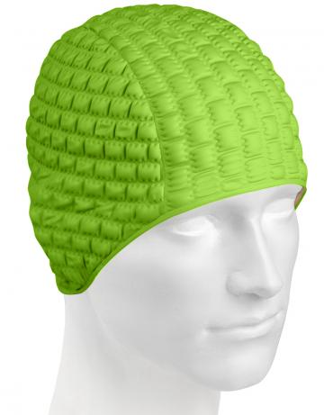 Резиновая шапочка CANDY BUBBLEРезиновые шапочки<br>Откройте для себя ассортимент резиновых шапочек Mad Wave!  Изготовлена из высококачественной резины , эта шапочка является идеальным выбором для регулярных тренировок в бассейне . Эргономичная форма обеспечит точную и надежную фиксацию .<br><br>Цвет: Зеленый