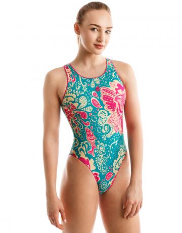 Спортивный купальник для плавания FLEXСпортивные купальники<br><br><br>Размер: XXS<br>Цвет: Бирюзовый