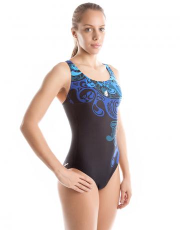 Спортивный купальник для плавания WAVEСпортивные купальники<br>Купальник слитный с формой спины Complete Back. В подкладке лифа формованные чашки и эластичная лента под грудью создают необходимую поддержку груди. Вырез бедра средний.<br><br>Размер: XXS<br>Цвет: Синий
