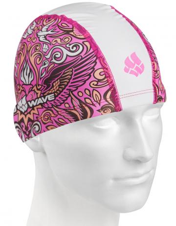 Комбинированная шапочка для плавания FIREBIRDКомбинированные шапочки<br>Текстильная шапочка с полиуретановым покрытием и рисунком. Лёгкая и комфортная.<br><br>Размер: None<br>Цвет: Белый